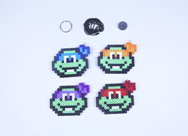 Teenage Mutant Ninja Turtles Keychain Necklace Magnet Decorative Art To Hang